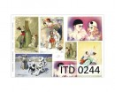 Papier do decoupage A3 ITD 244 Pierrot x1