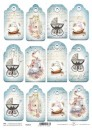 Tagi do scrapbookingu TAG-015 baby blue x1