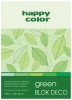 Blok A5 Happy Color Deco Green 170g 20k x1