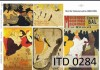 Papier do decoupage A3 ITD - 284 Toulouse-Lautrec