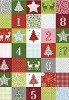 Karton B2 300g Heyda Christmas Red Patchwork x1
