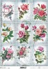 Papier do decoupage A4 ITD Soft - 142 kwiaty retro